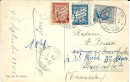 1925- C P D' Italie  Affr. 25 C  TAXEE 35 Centimes - Storia Postale