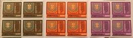 """POR#3640-Complete Set Of 3 Blocks Of 4 MNH Stamps-""""25. Aniv. Da Estação De Melhoramento De Plantas"""" - Portugal - 1970 - Blocs-feuillets"""