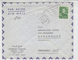 Luftpostbrief Aus TEHERAN 9.4.62 Nach Osnabrück - Iran