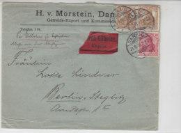 Expressbrief Der Fa. Morstein Aus DANZIG 21.9.16 Nach Berlin-Steglitz - Briefe U. Dokumente
