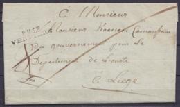 L. (franchise) Datée 7 Avril 1814 De STOUMONT Pour Commissaire Du Gouvernement Pour Le Département De L'Ourte à LIEGE - - 1794-1814 (Période Française)