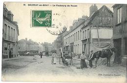 76 GOURNAY EN BRAY LE FAUBOURG DE ROUEN MARECHAL FERRANT 1912 CPA 2 SCANS - Gournay-en-Bray