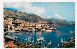 (RECTO / VERSO) MONACO EN 1958 - LE PORT ET MONTECARLO - BEAU TIMBRE FRANCAIS - FORMAT CPA - Hafen