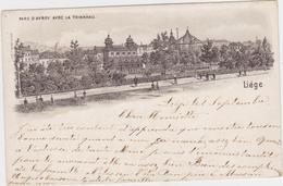 Luik/Liége - Parc D'Avroy (gelopen Kaart Met Zegel En Afstempeling 1899) - Liege