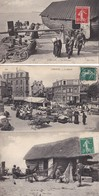 Cpa Dept 76 - étretat - Lot De 4 Cpa - Un Cabestan - Marché - Une Caloge - Le Travail Des Filets - Etretat