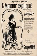 (MUSI2) Illustrateur GANGLOFF,l'amour Expliqué , GAUDET , Paroles Et Musique GEORGES KRIER - Partitions Musicales Anciennes