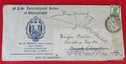 MPS International Salon Of Photography, Memorandum Cover 1949. Bangalore India - Photographie
