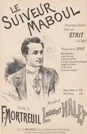 (MUSI2) Illustrateur GANGLOFF,le Souvenir Maboul , STRIT , Paroles F MORTREUIL , Musique L HALET - Partitions Musicales Anciennes