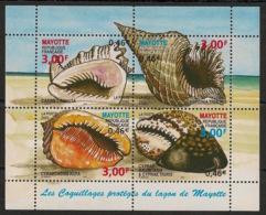 Mayotte - 2000 - Bloc Feuillet N°Yv. 4 - Coquillages - Neuf Luxe ** / MNH / Postfrisch - Blocks & Kleinbögen