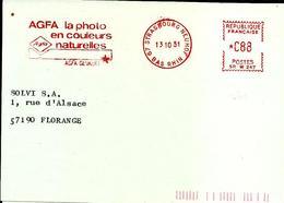 Lettre   EMA  Satas Srw 1981  AGFA La  Photo Couleurs Naturelles Metier  Filmez 67 Strasbourg C25/12 - Photography