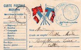 CP Militaire- 4 Drapeaux - Storia Postale