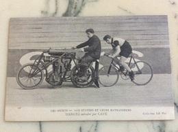 Les Sports.Nos Stayers Et Leurs Entraîneurs Darioli Entraîné Par Cave. - Cycling
