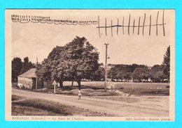 CPSM HARGNIES ( Ardennes ) La Place De L'Aulnaie - Petite Anim. - Circulée En 1938 - Edit. Cailteux - 2 Scans - Autres Communes