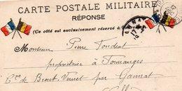 """CP Militaire - """"Réponse """"-   4 Drapeaux - - Storia Postale"""