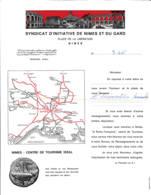 FRANCE - 1966 - Courrier Du Syndicat D'Initiative De Nîmes - Reiseprospekte