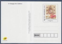 = Type MonTimbraMoi International 20g Entier Carte Postale Langage Des Timbres - Entiers Postaux