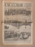 Journal EXCELSIOR 9 Décembre 1918 Visite Du  Roi George V Au QUESNOY Et MAROILLES Nord 59 - 1914-18