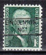 USA Precancel Vorausentwertung Preo, Locals North Carolina, Lincolnton 841 - United States