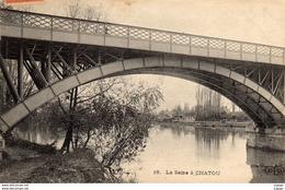 La Seine à CHATOU  Carte écrite En 1910   2 Scans   TBE - Chatou