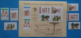 Nauru, 1982-Scout- Nice S/Sheet&set-MNH - Scoutismo