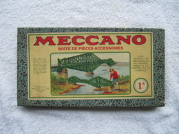 Boîte  VIDE   Jeu De Construction MECCANO - N°  1 A   (4817) - Toy Memorabilia