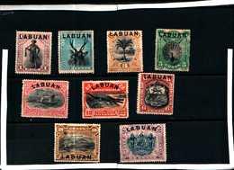94081D) MALAYSIA-LABUAN-1894 FRANCOBOLLI DEL BORNEO SOPRASTAMPATI LABUAN--MLH* - Autres