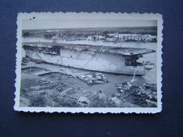 PHOTOGRAPHIE Ancienne : MARINE FRANCE / PORTE AVIONS - PORT DE SAIGON ( INDOCHINE - VIETNAM ) - Bateaux