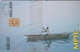 Malawi - Canoe On Lake Malawi (Old Logo) - Malawi