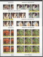 H029 IMPERFORATE 2004 GUINE-BISSAU NATURE MINERAIS E METEORITOS 9SET MNH - Minéraux