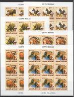 H036 IMPERFORATE 2005 GUINE-BISSAU FAUNA WILD ANIMALS OF AFRICA ALBERT SCHWEITZER 9SET MNH - Timbres