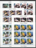 H037 IMPERFORATE 2004 GUINE-BISSAU FISH & MARINE LIFE PEIXES E FAROIS 9SET MNH - Vita Acquatica