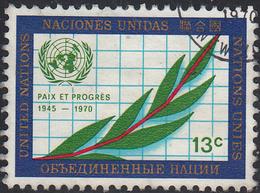 UNITED NATIONS NY   SCOTT NO .210   USED   YEAR 1970 - New-York - Siège De L'ONU