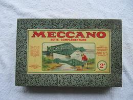 Boîte  VIDE   Jeu De Construction MECCANO - N°  2 A   (4818) - Jouets Anciens