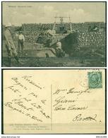 CARTOLINA - CV324 COLONIE TRIPOLITANIA 1911 Cartolina Ill. Bengasi Un Pozzo Arabo, FP, Viaggiata Da Bengasi Per Pavia - Libya