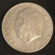 "HAITI - 50 CENTIMES 1972 - KM 101 - FAO - Jean-Claude Duvalier, Dit ""Papa Doc"" - Haïti"