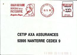 Lettre   EMA  Satas Sv 2000 71 Chalon Sur Saone Berceau De La Photographie Nicephore Niepce Personnalité C25/31 - EMA (Printer Machine)