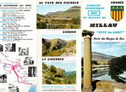 FRANCE - 1968 - Circuits Touristiques SNCF Au Départ De MILLAU - Tourism Brochures