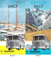 FRANCE - Autocars SNCF - Nice - Grenoble - Tourism Brochures
