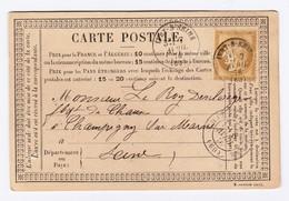 N° 55 1876 Yvry à Champigny Sur Marne - 1849-1876: Période Classique