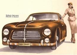 Pegaso Z-102 (Espagne)  -  Reproduction Du Publicité D'epoque 1954  -  Carte Postale Modern - PKW