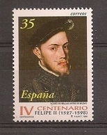 Espagne España 1998 N° 3121 ** Roi, Philippe II, Tableau, Bilbao, Musée Des Beaux-arts, Amérique, Charles Quint, Indes - 1931-Hoy: 2ª República - ... Juan Carlos I