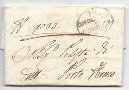 GOVERNO PROVVISORIO AUSTRIACO - DA FERMO A PORTO DI FERMO - 6.6.1815 - 4 GIORNI DOPO LA BATTAGLIA DELLA RANCIA - ...-1850 Préphilatélie