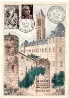 GIRONDE - Dépt N° 33 = LA REOLE 1950  = CACHET TEMPORAIRE 'PREMIERE EXPOSITION PHILATELIQUE ' - Marcophilie (Lettres)