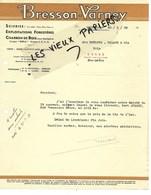 52 - Haute-marne - GUYONVELLE - Facture BRESSON-VARNEY - Scierie, Exploitations Forestières - 1938 - REF 151B - 1900 – 1949