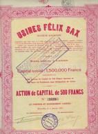 USINES FELIX SAX * APPAREILS D ECLAIRAGE POUR LES CHEMINS DE FER  * 1923 * BRUXELLES * 3 SCANS - Chemin De Fer & Tramway