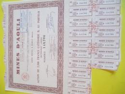Mines D'AOULI/Maroc/ Action De 2 500 Francs Au Porteur / 1956    ACT110bis - Mines
