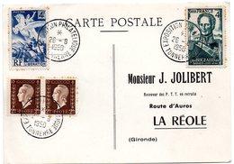 YONNE - Dépt N° 89 = TONNERRE 1950  = CACHET TEMPORAIRE 'EXPOSITION PHILATELIQUE ' - Marcophilie (Lettres)