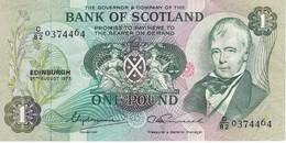 BILLETE DE ESCOCIA DE 1 POUND DEL AÑO 1977  (BANKNOTE) RARO - 1 Pound