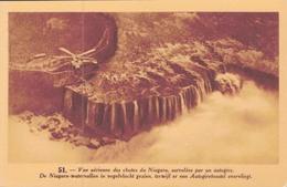 VUE AERIENNE DES CHUTES DU NIAGARA SURVOLEES PAR UN AUTOGIRE (HELICOPTERE) - Niagara Falls
