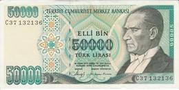 BILLETE DE TURQUIA DE 50000 LIRAS DEL AÑO 1970 CALIDAD EBC (XF)  (BANK NOTE) - Turkije